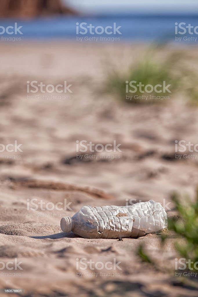 Discarded Water Bottle royalty-free stock photo