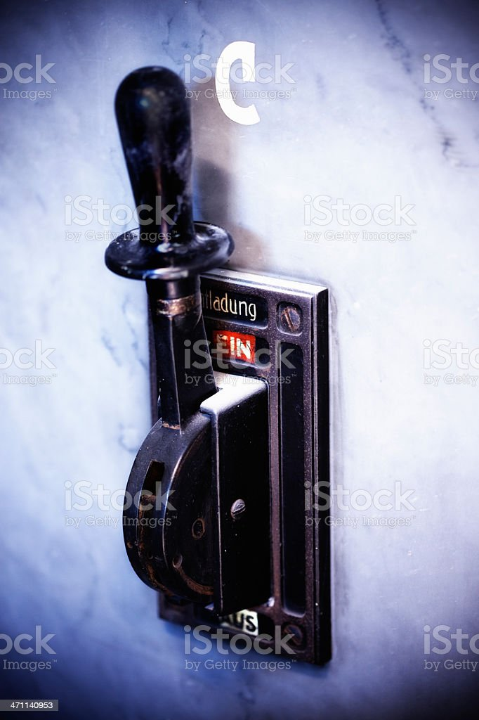 Discharge switch stock photo