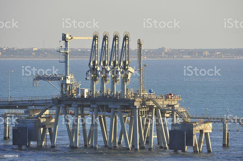 LNG discharging terminal stock photo