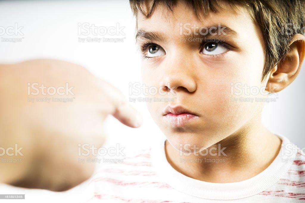 Disciplining a child. stock photo