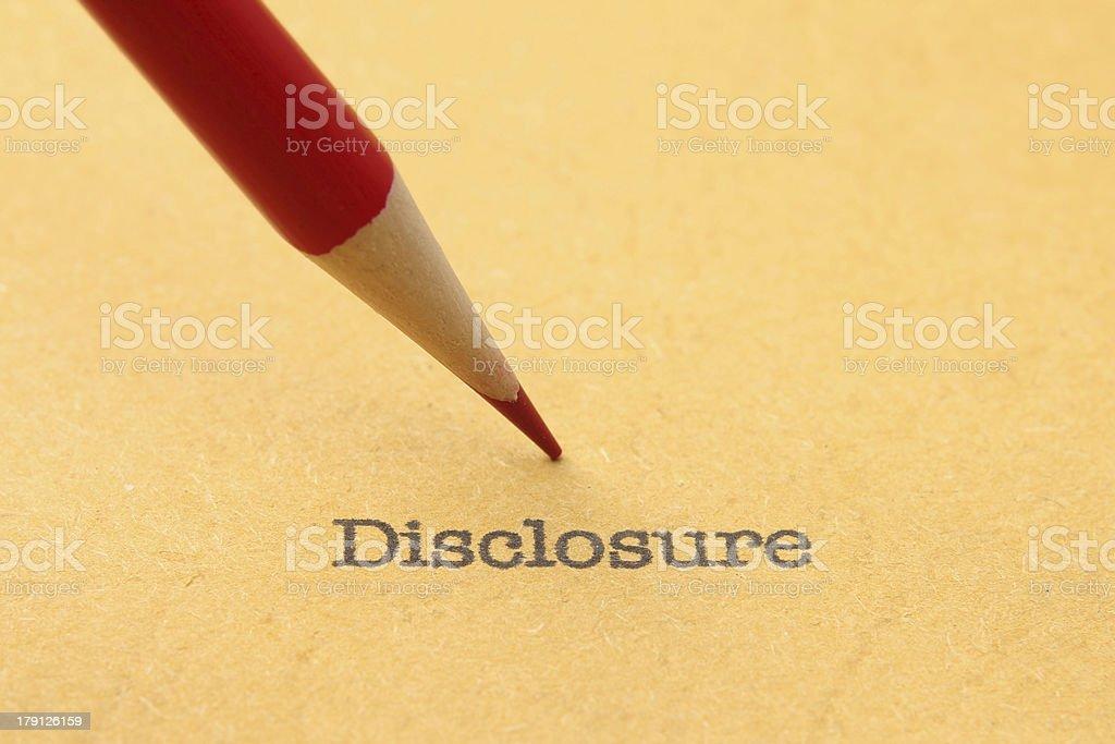 Disclosure royalty-free stock photo