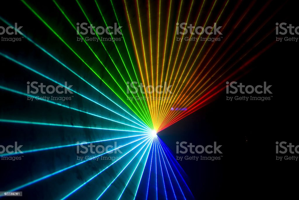 Disco and laser show royalty-free stock photo
