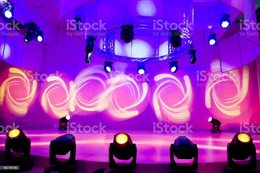 Disco and light show royalty-free stock photo