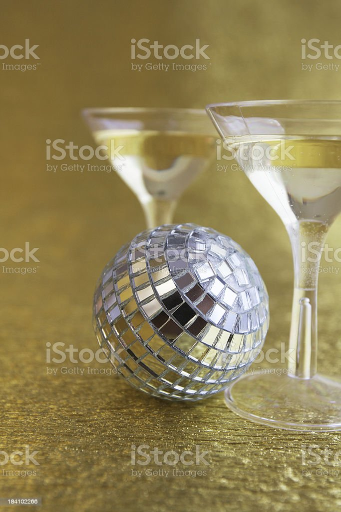 Disco ball and drinks royalty-free stock photo