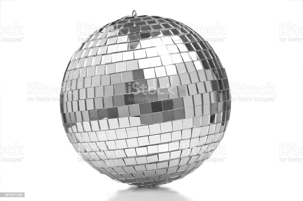 Disco ball closeup stock photo