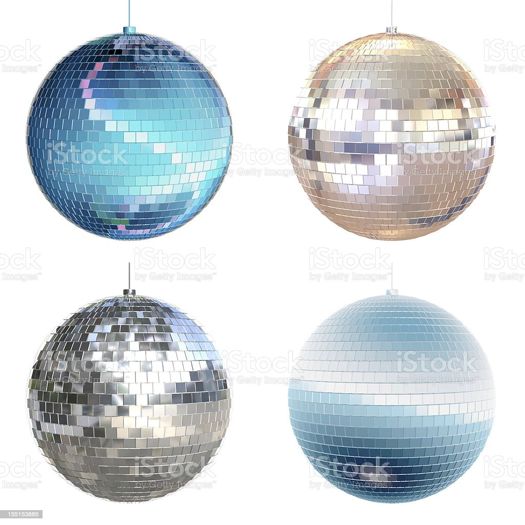 Disco ball collection stock photo