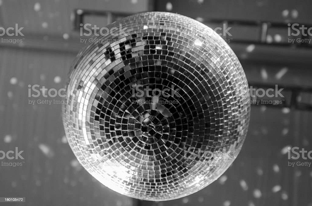 Disco Ball from Underneath stock photo