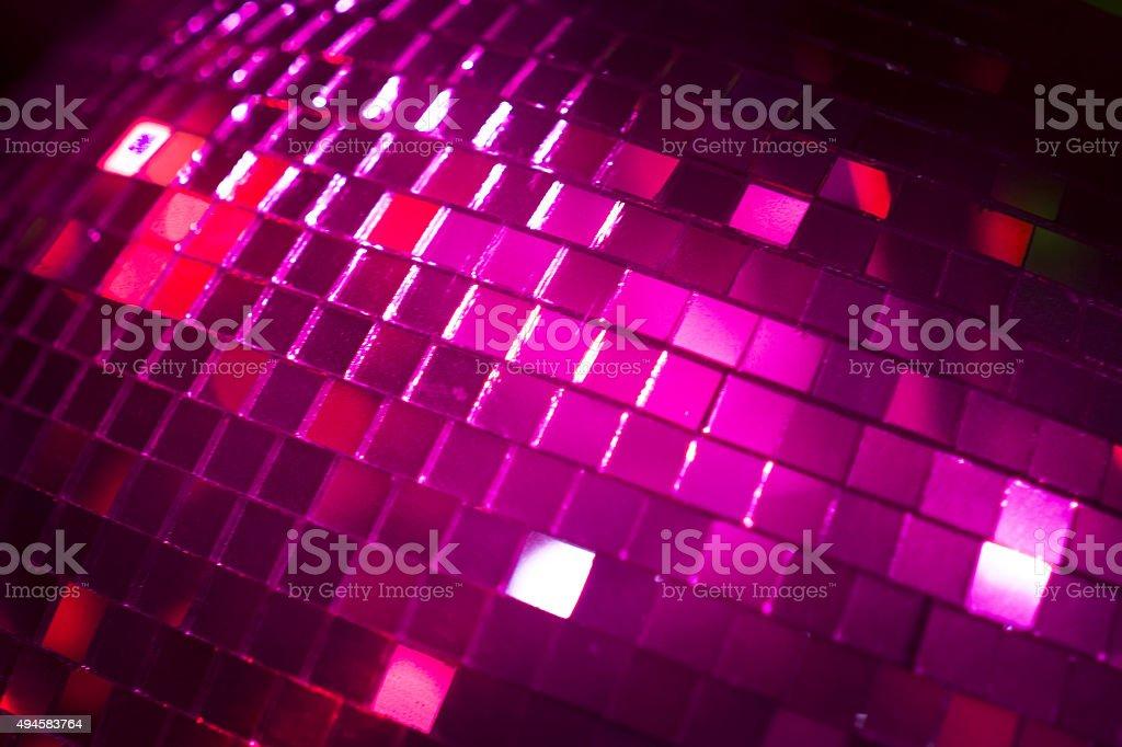 Disco ball in Ibiza house music party nightclub stock photo