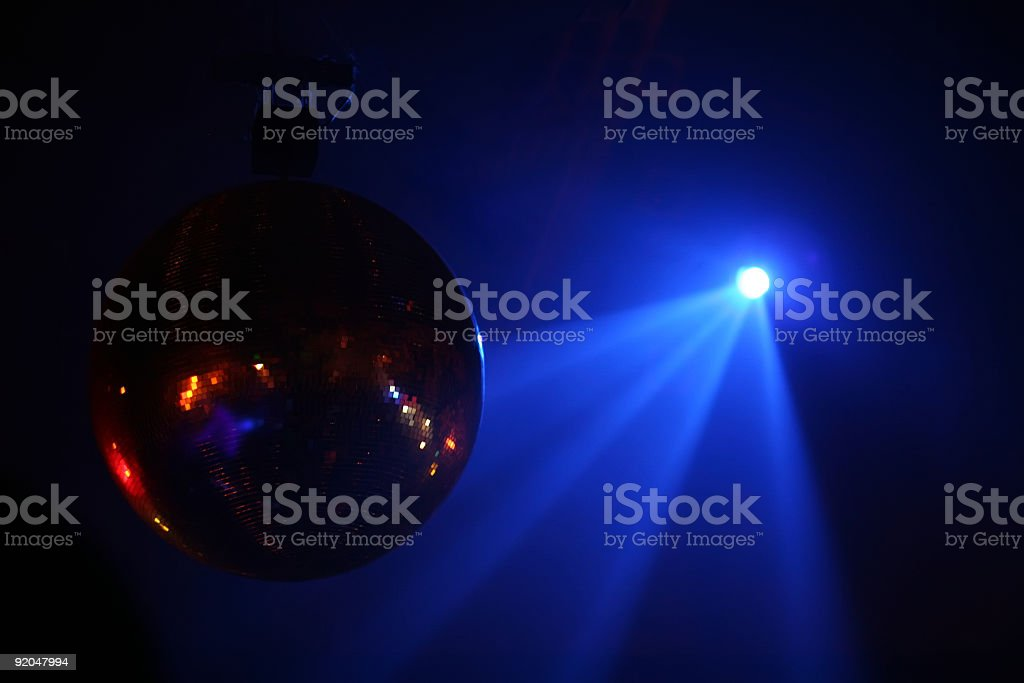 Disco ball in motion royalty-free stock photo