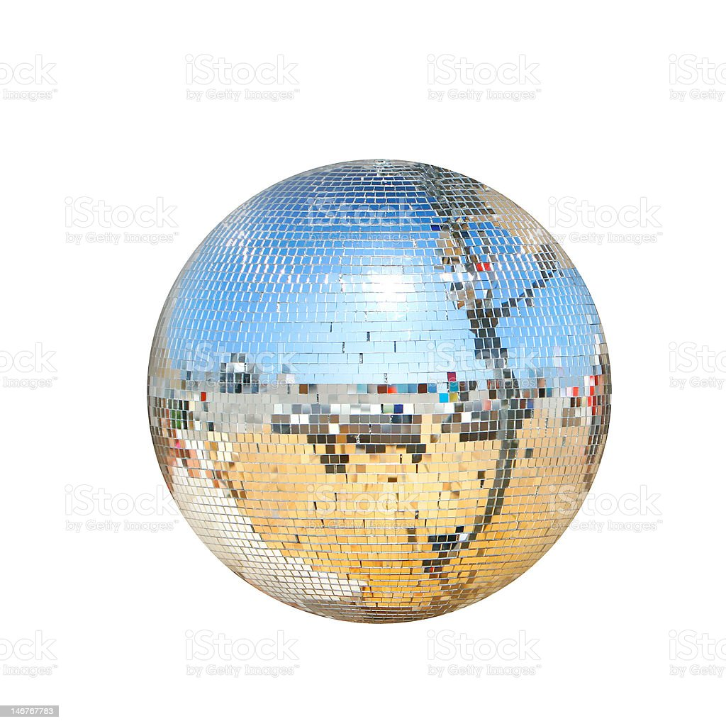 disco ball isolated over white royalty-free stock photo