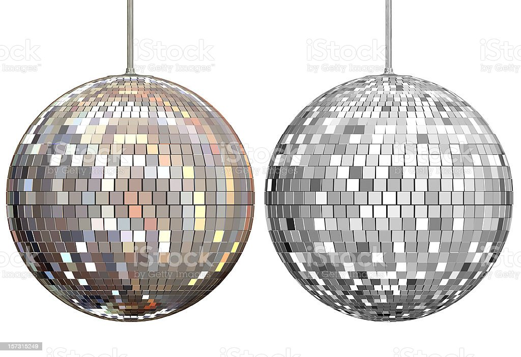 Disco Ball Mirrors 3D Rendering royalty-free stock photo