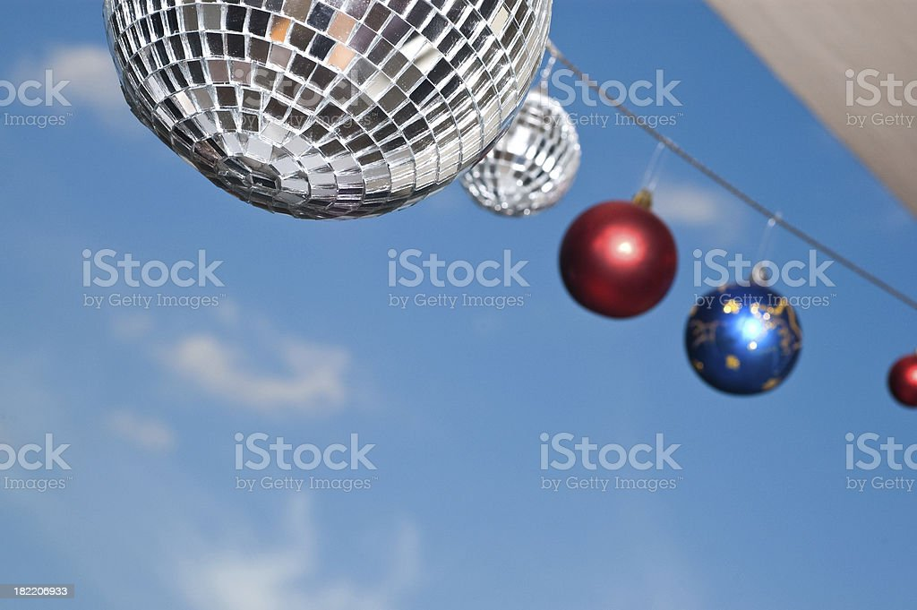 disco ball on sky background royalty-free stock photo