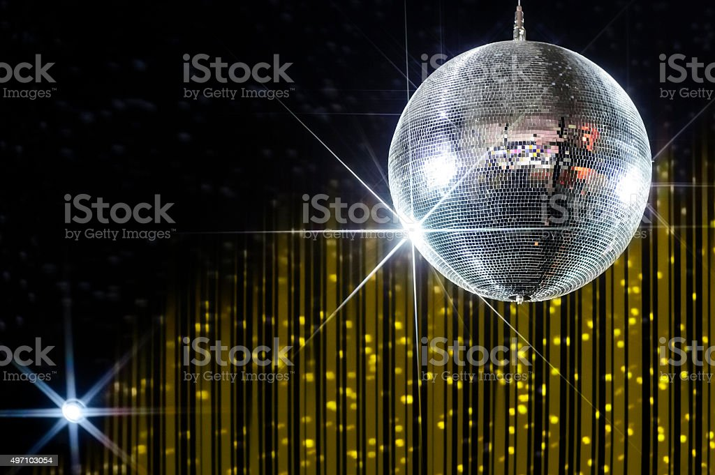 Disco ball with stars stock photo