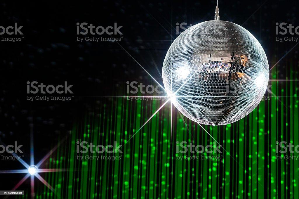 Disco ball with stars stock photo