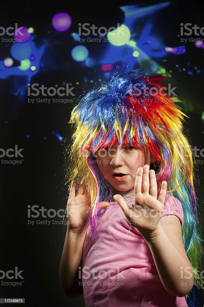 Disco children royalty-free stock photo