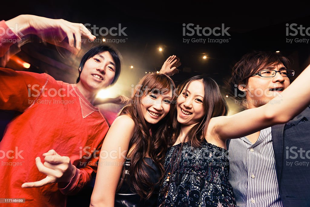 Disco Dance Japanese Night Club Party royalty-free stock photo