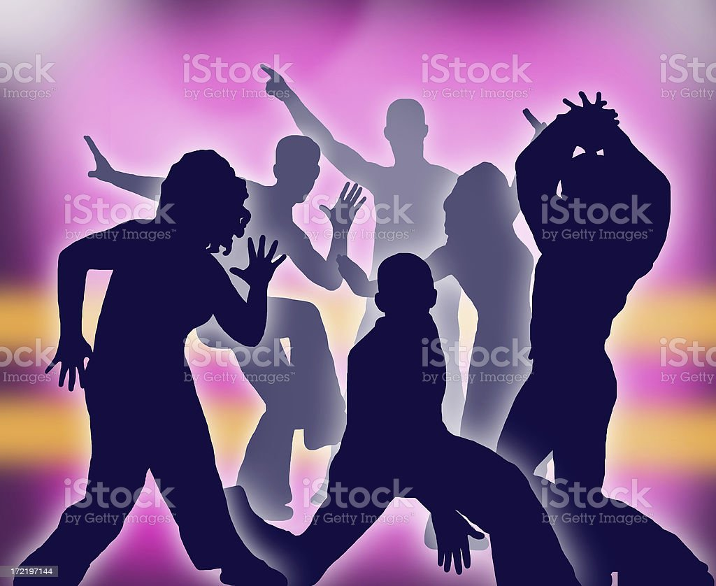 Disco Dance Party royalty-free stock photo