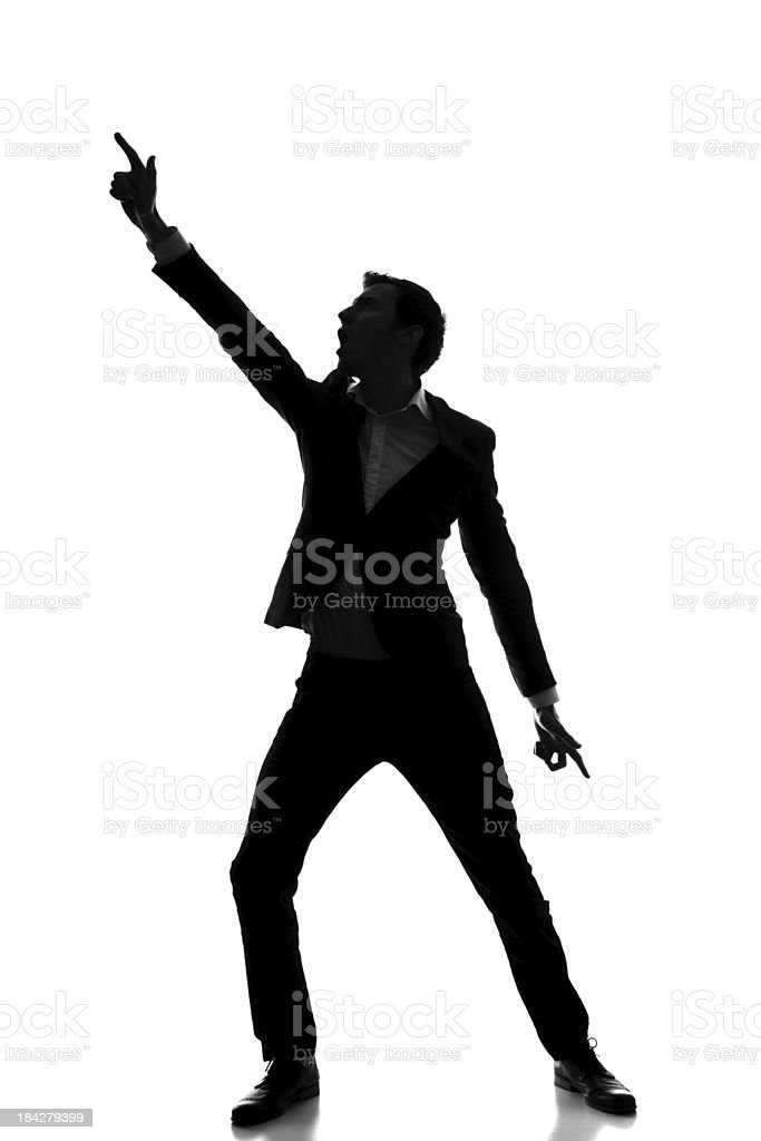 Disco dance silhouette royalty-free stock photo