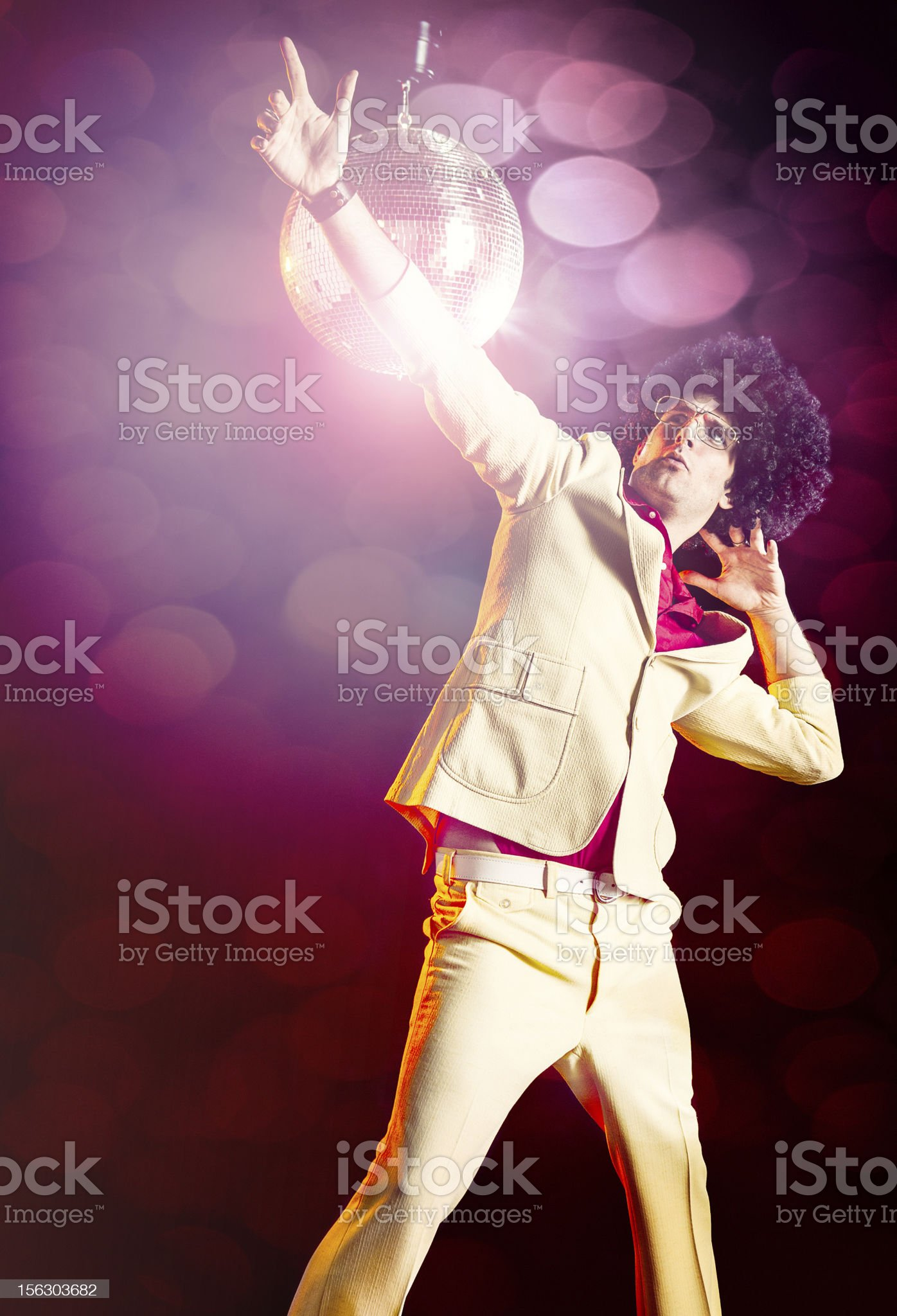 Disco Dancer with Afro royalty-free stock photo