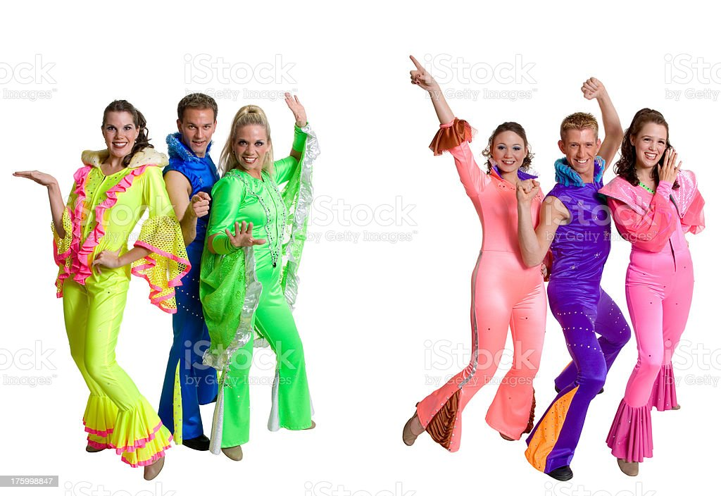 Disco Dancers royalty-free stock photo