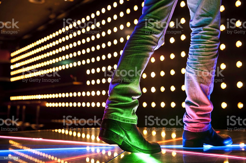Disco dancing bar stock photo
