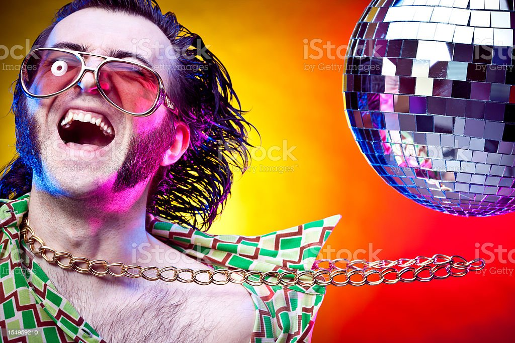 disco dancing vintage man happiness at party royalty-free stock photo