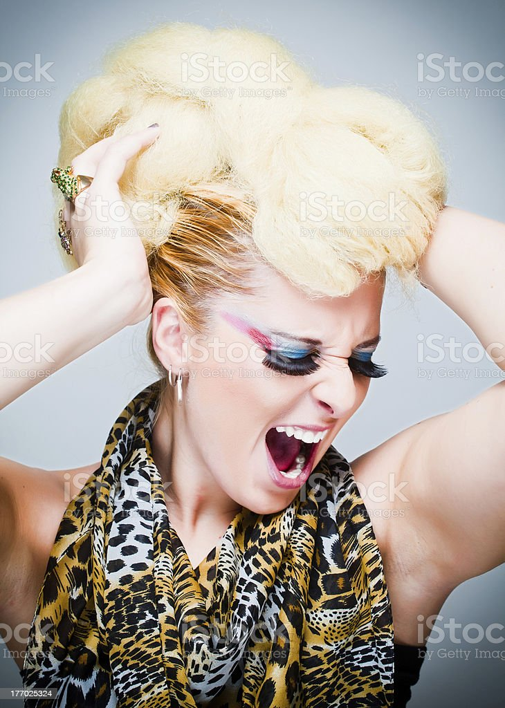 Disco Diva Singing royalty-free stock photo