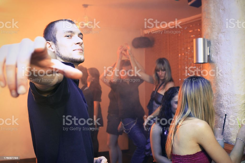disco dude in a nightclub royalty-free stock photo