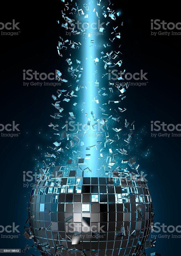 Disco explosion stock photo