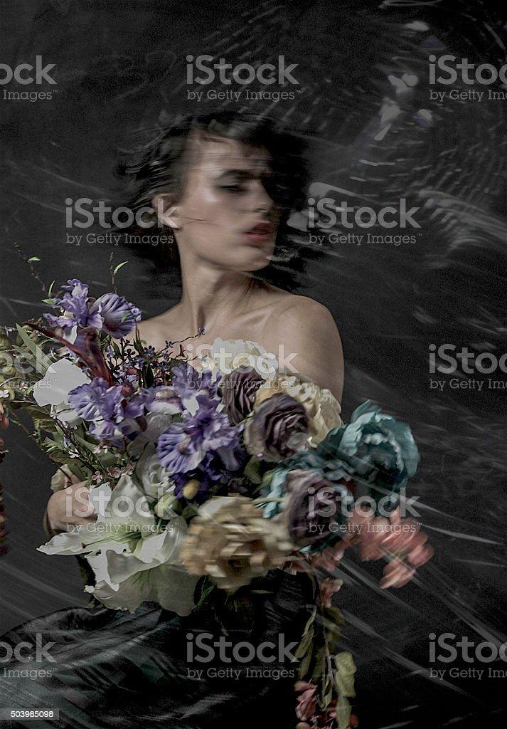 GO disco flowers stock photo