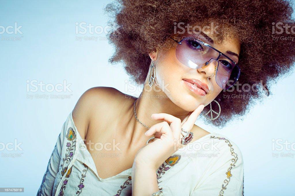 Disco Girl stock photo