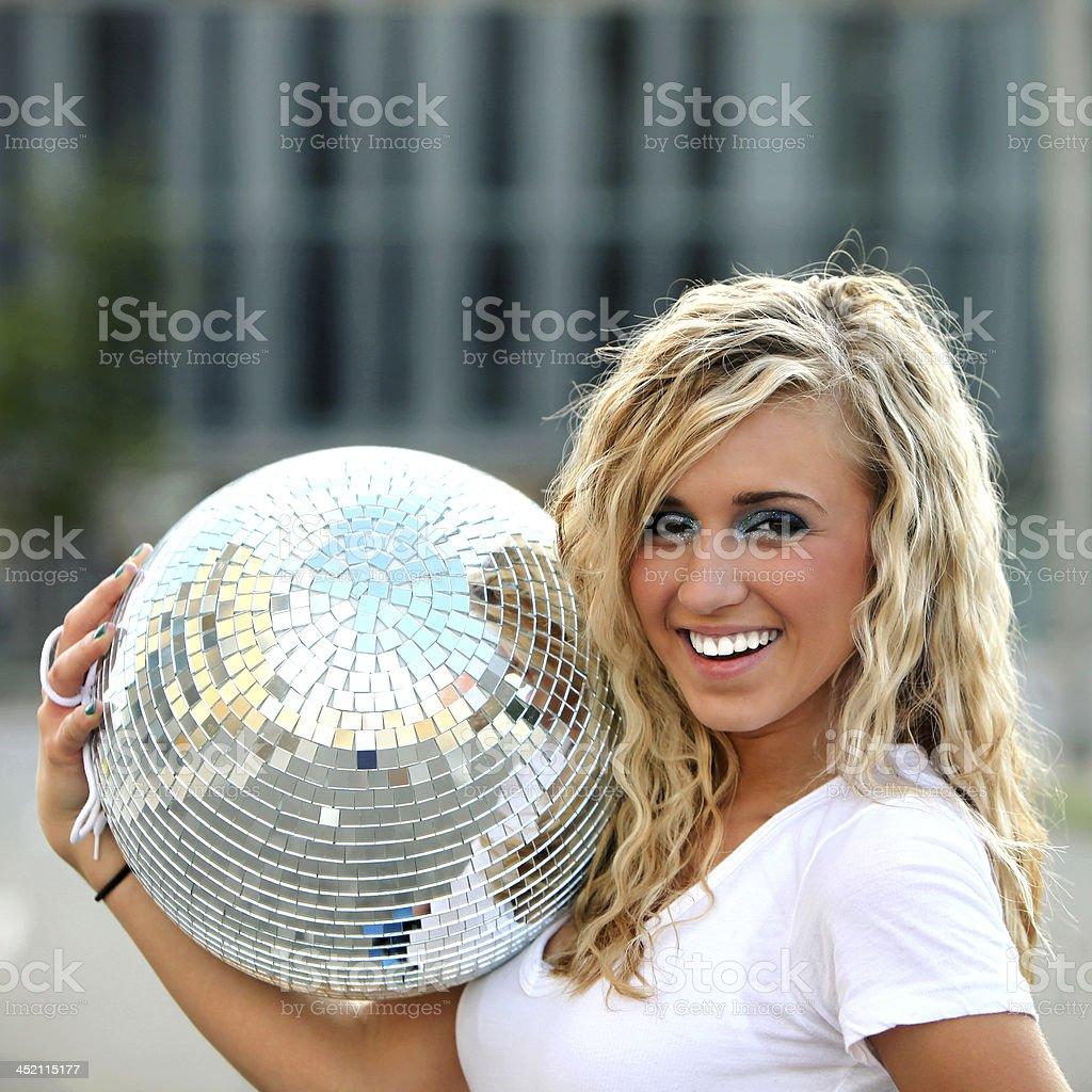 Disco Girl royalty-free stock photo