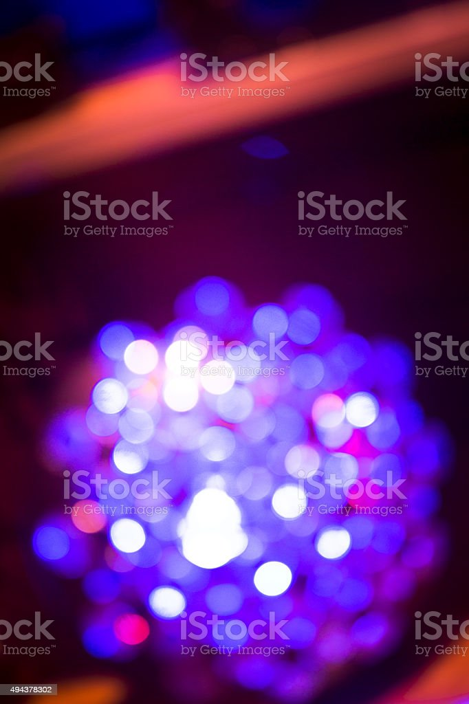 Disco light ball in Ibiza house music party nightclub stock photo