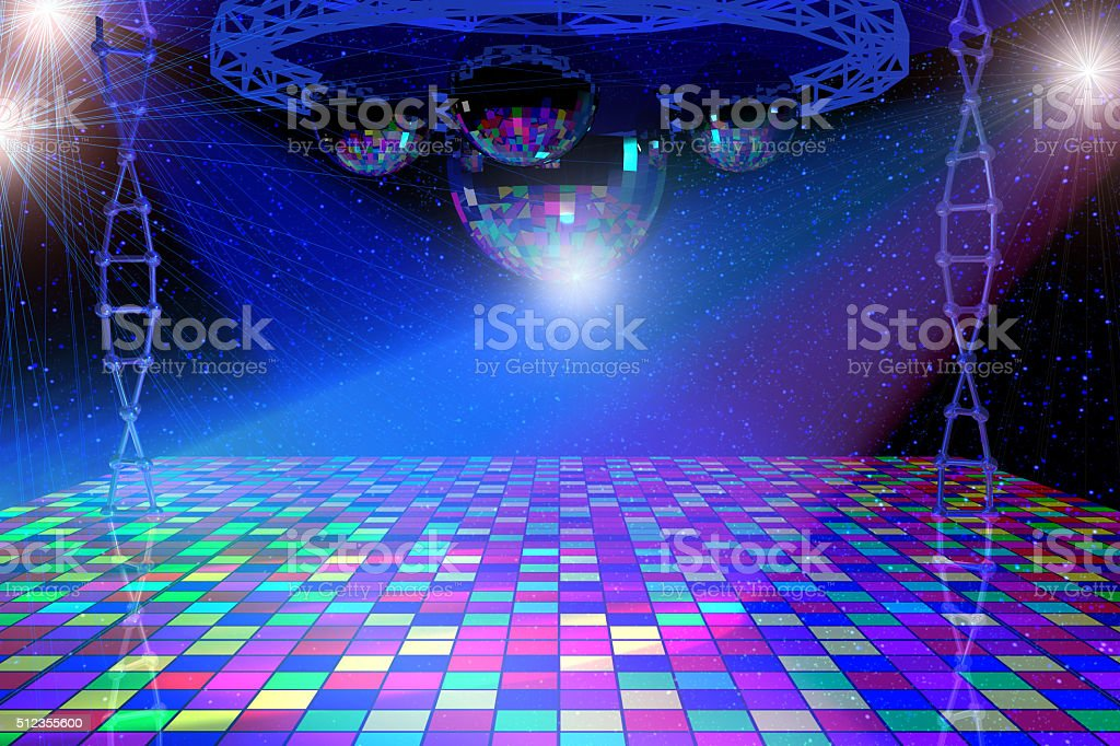 Disco lights background stock photo