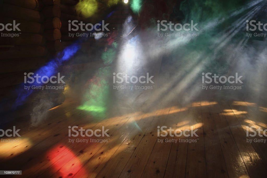 Disco Lights With smoke royalty-free stock photo