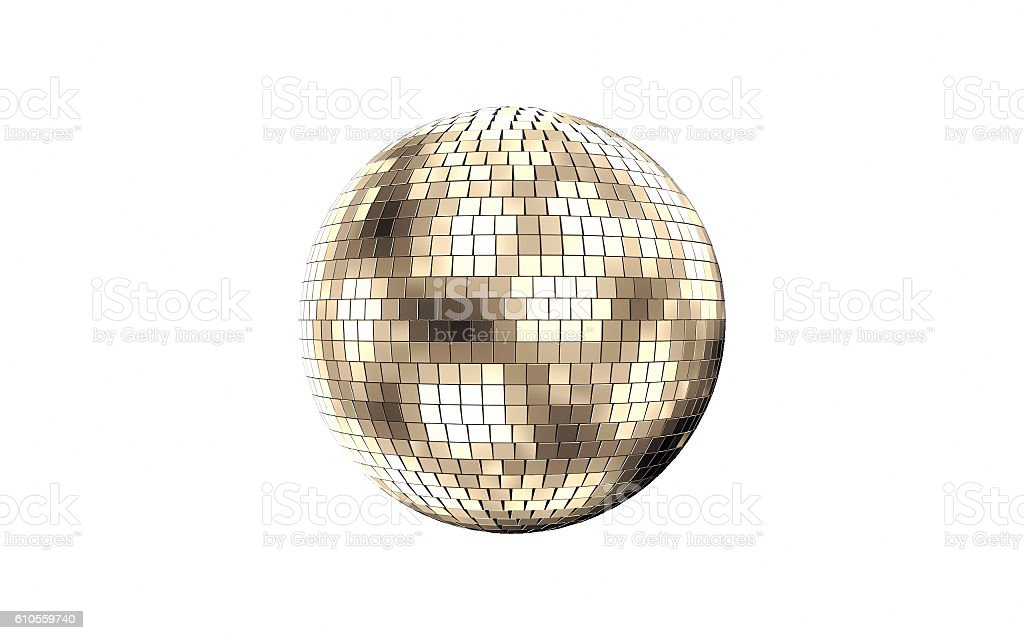 Disco mirror ball vector art illustration