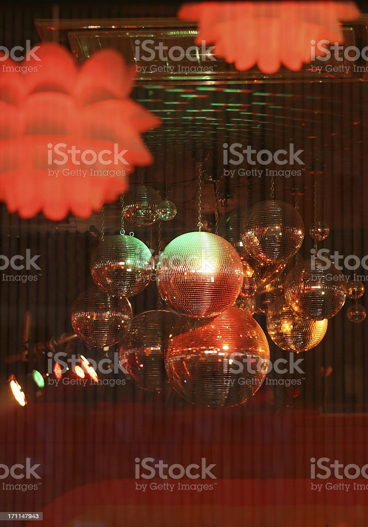 disco - mirror balls stock photo