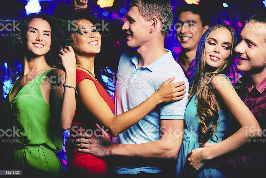 Disco party royalty-free stock photo