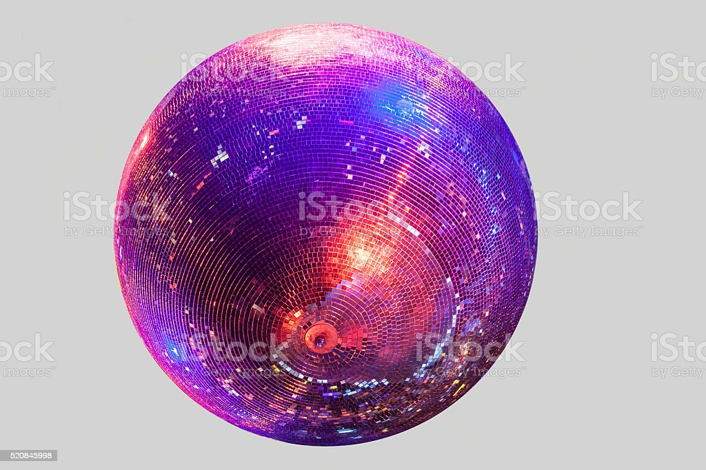 Discoball on gray background stock photo