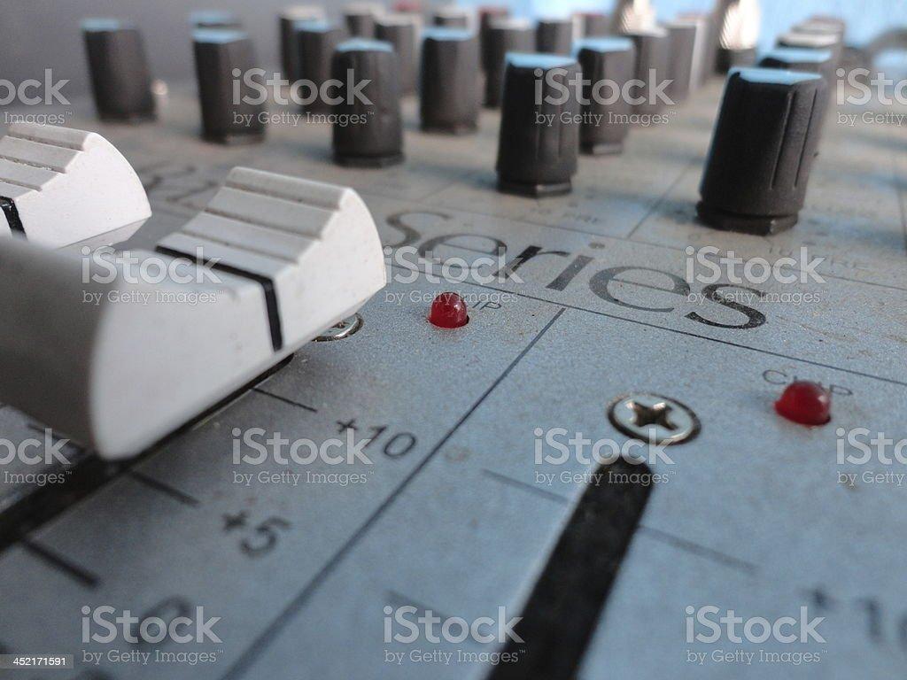 disco-jockey mini audio controller royalty-free stock photo