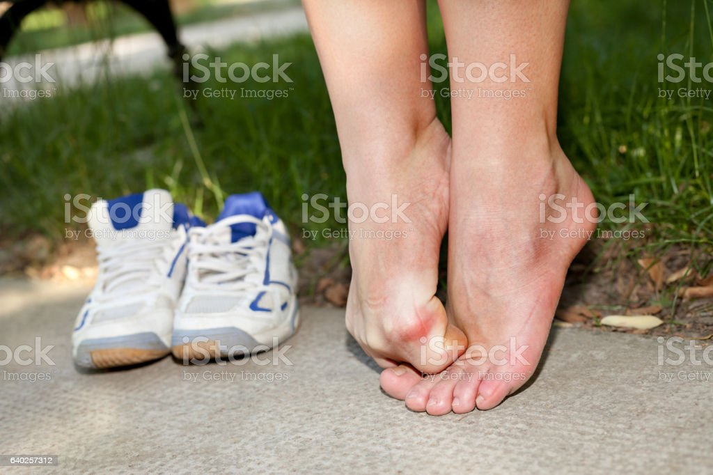 discomfort and itching caused by fungus stock photo