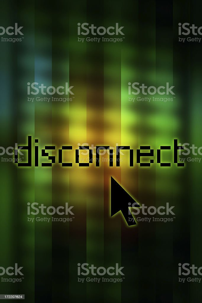 Disconnect... stock photo