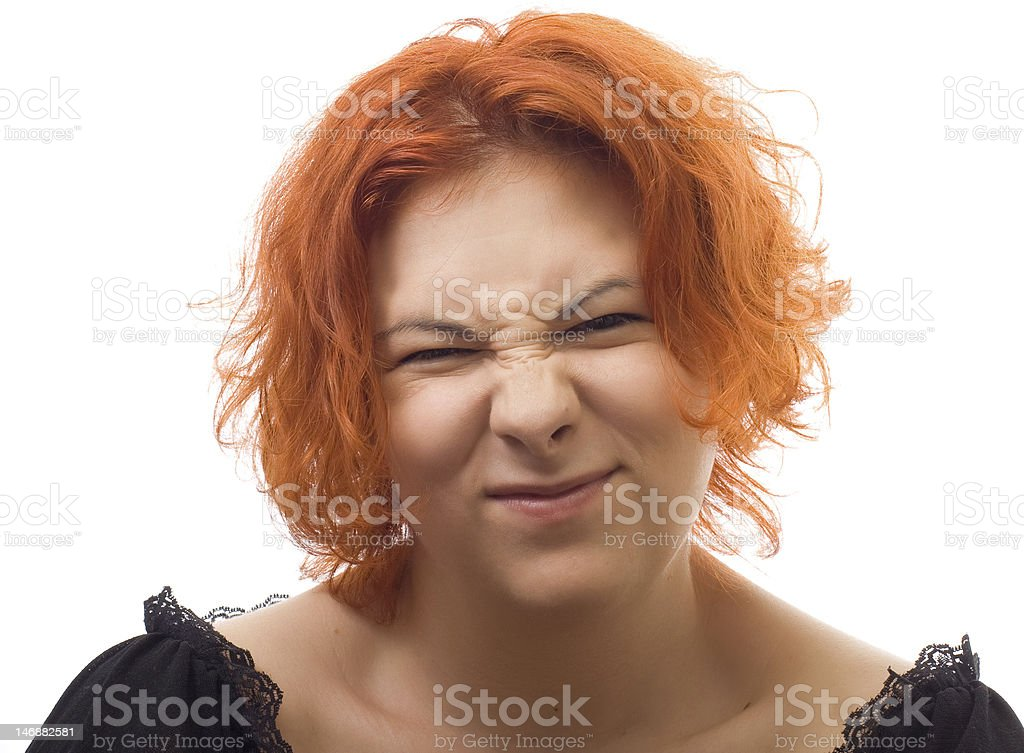 discontent girl royalty-free stock photo