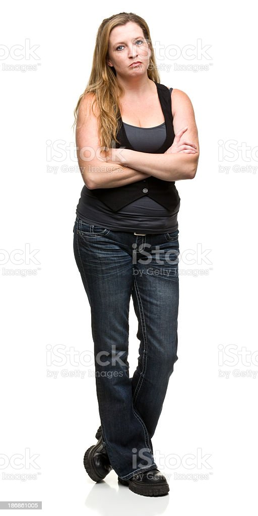 Discontent Woman stock photo