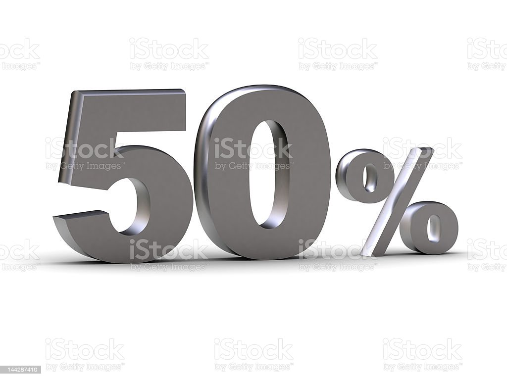discount - 50 percent royalty-free stock photo