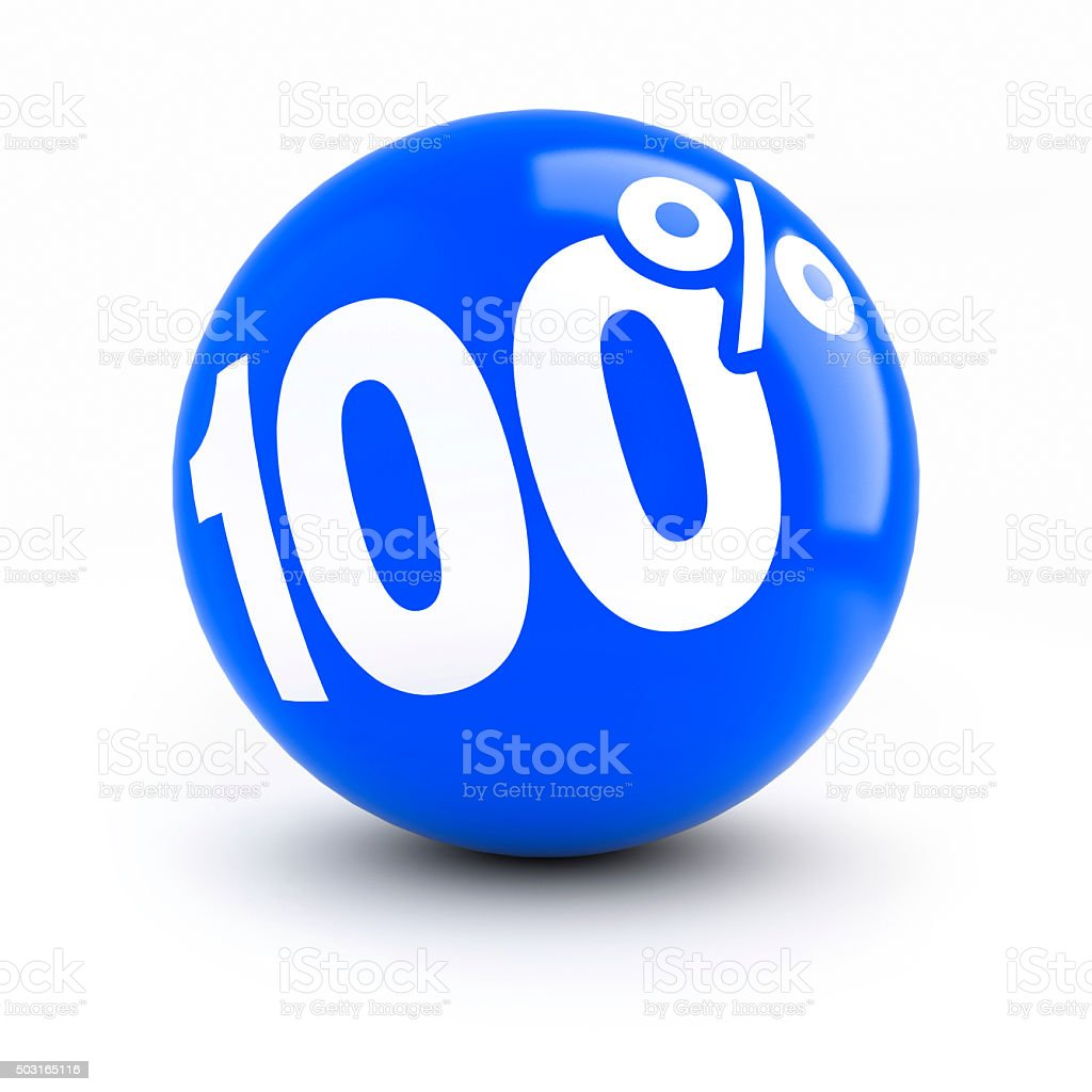 100% discount blue ball stock photo