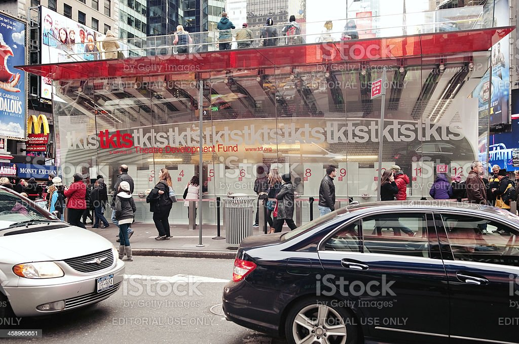 TKTS Discount Booth in Time Square royalty-free stock photo