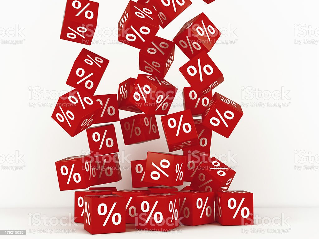 Discount boxes royalty-free stock photo