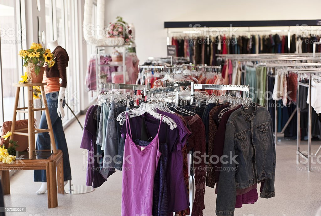 Discount Clothing Store royalty-free stock photo