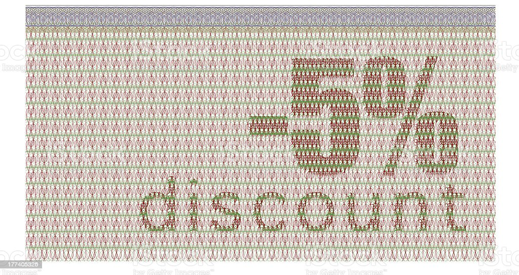 discount coupon -5% royalty-free stock photo